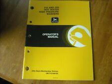John Deere 310 Amp 320 Hot Water High Pressure Washers Operators Manual