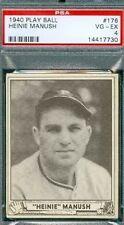 Psa Vg Ex 4 1940 Play Ball #176 Heinie Manush Authentic