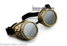 Halloween BRASS CYBER GOGGLES STEAMPUNK WELDING GOTH LOL Ezreal COSPLAY