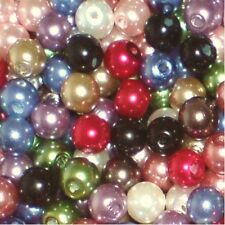 50 pieces 10mm Glass Pearl Beads - Assorted Mixed - A1221