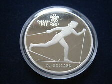 """Mds Canada / 20 Dollars 1986 Pp / Proof """" Olympiade Calgary 1988 """", Argent #1"""