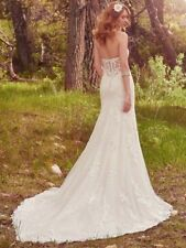 Genuine Unaltered Maggie Sottero Makenna fitted Lace Wedding Dress 10 12