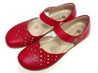 Remonte soft Damen Schuhe Slipper Halbschuh Ballerina R3851-33 rot Leder Klett