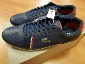Lacoste Evara Sport 319 1 Mens 9.5 Casual Navy Blue Fashion Shoes 38CMA0043-144