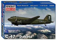 "Minicraft C-47 ""Dakota"" 1/144 Plastic Model Plane Kit 14747"