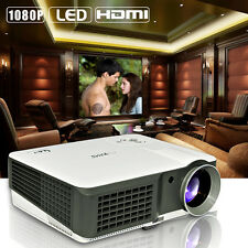 4000LM LCD LED Projector Home Cinema Theater Backyard Movie Party HDMI USB 1080p