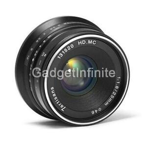 7artisans 25mm f/1.8 Manual Focus Prime Fixed Lens (Black) for Fujifilm X-Mount
