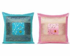 Cushion Cover Silk Brocade Pillow Case Indian Throw Pillow Christmas Home Decor