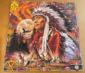 SPIRIT OF THE FULL MOON -- 600 Piece FX Schmid Jigsaw Puzzle -- 100% Complete