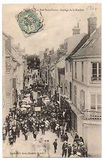 CPA 91 - DOURDAN (Essonne) - Rue Saint-Pierre. Cortège de la Rosière - ed. Sevin