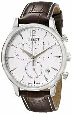 Tissot Men's T0636171603700 'T-Classic Tradition' Chrono Brown Leather Watch