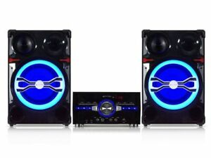 """New Technical Pro 4000 Watts 10"""" Bluetooth LED Home Entertainment Speaker System"""