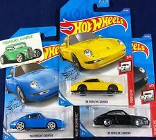 Hot Wheels - Lot of 3 - PORSCHE - CARRERA - Blue - Yellow - Black - B148