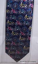 Bicycles on blue Tie