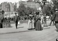 Vintage Old New York City photo 5th Ave at 25thSt 1908 Gilded age People walking