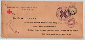GP GOLDPATH: GREAT BRITAIN RED CROSS COVER 1917 _CV698_P18