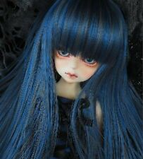 Bjd Doll Wig 1/4 7-8 Dal Pullip AOD DZ AE SD DOD LUTS Dollfie blue black Hair