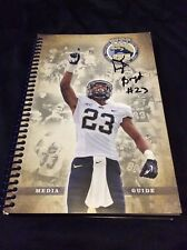 TYLER BOYD SIGNED PITT PANTHERS MEDIA GUIDE BENGALS MAGAZINE AUTO PROOF