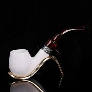 New Meerschaum Enchase Smoking Pipe Tobacco Cigarettes Cigar Pipes Gift Durable