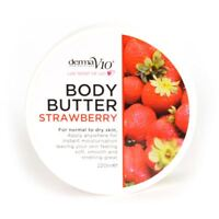 Body Butter Strawberry Vegan Friendly Naturally Rich Body Butter 220Ml