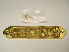 Solid Brass No Smoking Sign Or Plaque Wall Hanging Warning Caution Alert New