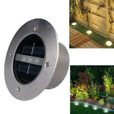 3 LED Outdoor Solar Power Light Buried Garden Pathway Yard Fence In ground Lamp