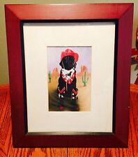 LABRADOR COWBOY FRAMED WESTERN ART  LAB DOG