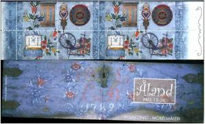 Aland 1999 Folk Art, Decorated Furniture, Complete Booklet, MNH/UNM