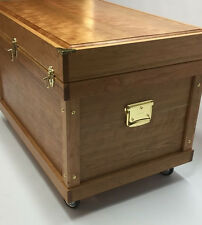 Large Tack Trunk With Deep Bandage Lid Made From Solid Cherry Hardwood