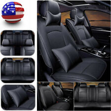 Car Cushion 5 Seats Front & Rear w/Pillow Set Black For Ford F150 2010-2016
