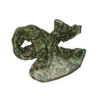 Tactical Scrim Net Commando Caccia Camouflage Fronte Sciarpa Velluto Telaio