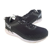 Hoka One Clifton 5 Mens Size 12.5 Black Athletic Walking Running Shoes Sneakers
