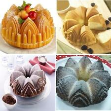 Silicone Bundt Crown Cake Baking Tin Mold Nonstick Bakeware Pan Chocolate Mould