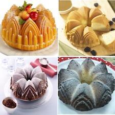 Silicone Bundt Crown Cake Baking Tin Mold Nonstick Bakeware Pan Chocolate Mould