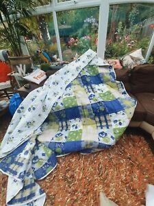 Kingsize patchwork Bedspread & king duvet set £200 set
