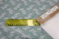 "1Y + 3"" WHITE Lingerie Lace Fabric-43"" Wide -Soft 100% Nylon by Mandel Fabrics"
