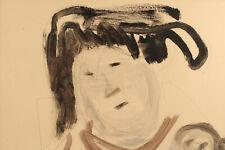 "JEAN MARAIS (1913-1998) ""El MADRE"" San Christobal Crayon Aquarelle 1988"