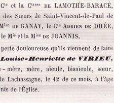 Nicole Louise Henriette De Virieu François De Laurencin Chanzé Lachassagne 1861