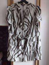 #G35 - Mélange De Lin Camouflage Tunique De Star (JULIEN MACDONALD) - taille 20-Bnwt