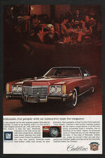 1972 CADILLAC ELDORADO Red Luxury Car VINTAGE AD