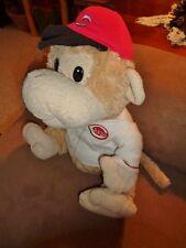 Monkey Cincinnati Reds Baseball Cap & Jersey MLB Plush Fiesta Tan Beige Stuffed