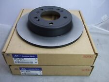 Pair of Genuine Hyundai 262mm Rear Brake Discs 58411 3X300