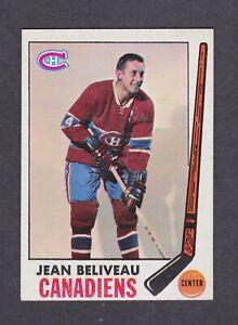1969 TOPPS HOCKEY #10 JEAN BELIVEAU CANADIENS