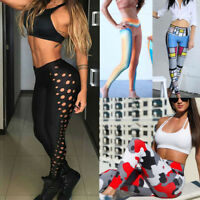Women's Sports Yoga Long Pant Workout Gym Fitness Leggings Pants Athletic Cloth