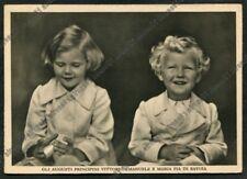 VITTORIO EMANUELE DI SAVOIA 11 MARIA PIA Cartolina 1940