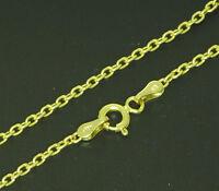 Damen Gold Anker kette Halskette 585 Gold 42 cm Collier Neu