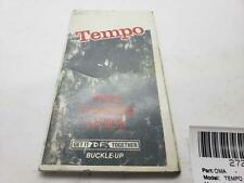 Ford Tempo Ford Owners Manual 1984