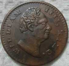 1818 William IIII 2 two anna east india company rare palm size temple coin