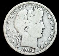 1900 O Barber Half Dollar, Good Condition, United States, Free Shipping, C3988