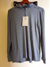 White sierra Women's 1/4 Zipp pullover Stretch Long Sleeve Blue Indigo Small